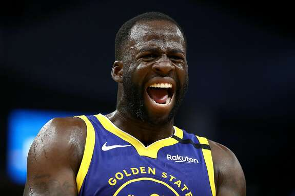 SAN FRANCISCO, CALIFORNIA - JANUARY 22: Draymond Green #23 of the Golden State Warriors complains about a call during their game against the Utah Jazz at Chase Center on January 22, 2020 in San Francisco, California. NOTE TO USER: User expressly acknowledges and agrees that, by downloading and or using this photograph, User is consenting to the terms and conditions of the Getty Images License Agreement. (Photo by Ezra Shaw/Getty Images)