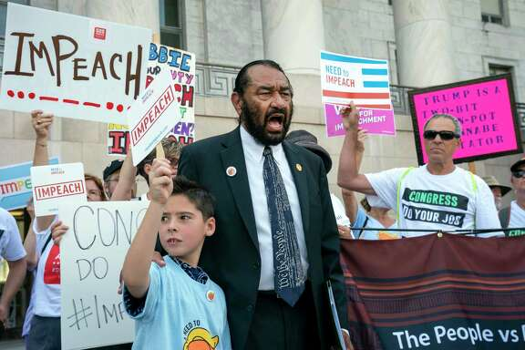 A reader quotes Rep. Al Green, D-Houston, above, to explain why Democrats have been intent on impeaching President Donald Trump.