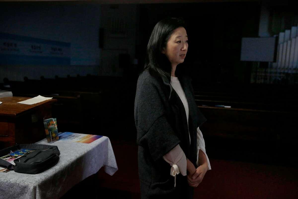 Reverend Teresa Cho stands inside St. Paul�s Presbyterian Church on Thursday, January 23, 2020 in San Francisco, Calif.