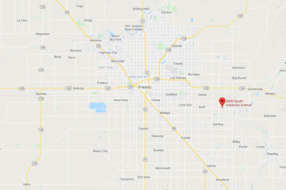 Cal Fire and the Fresno County Sheriff's Office responded at 11 a.m. Friday to a report of a traumatic injury at the Del Ray Packing Plant in the 3000 block of Indianola Avenue in Sanger, 15 miles east of Fresno. Photo: Google Maps