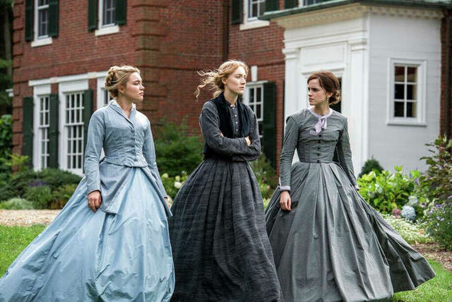 "Florence Pugh, Saoirse Ronan and Emma Watson in a scene from ""Little Women."" Wilson Webb 