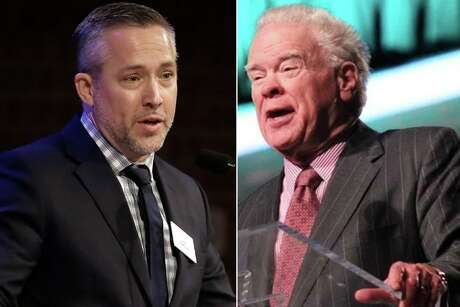 J.D. Greear, (left) president of the Southern Baptist Convention, criticized former SBC leader Paige Patterson, who was fired from a Ft. Worth seminary in 2018 for mishandling sexual abuse claims.
