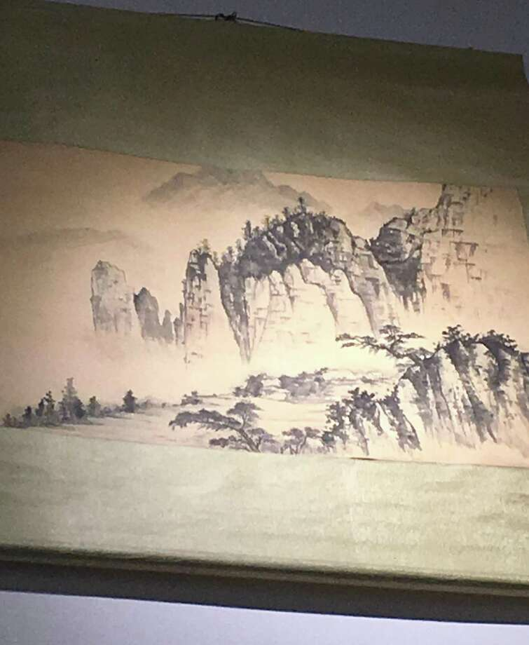 Before she became an architect, Maria Ogrydziak studied Chinese painting and brush strokes. This landscape she painted hangs in her firm's office in Davis. Photo: Maria Ogrydziak Architecture