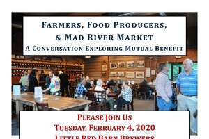 The Mad River Market food co-op is holding a public conversation with local farmers at Little Red Barn Brewers on Feb. 5.