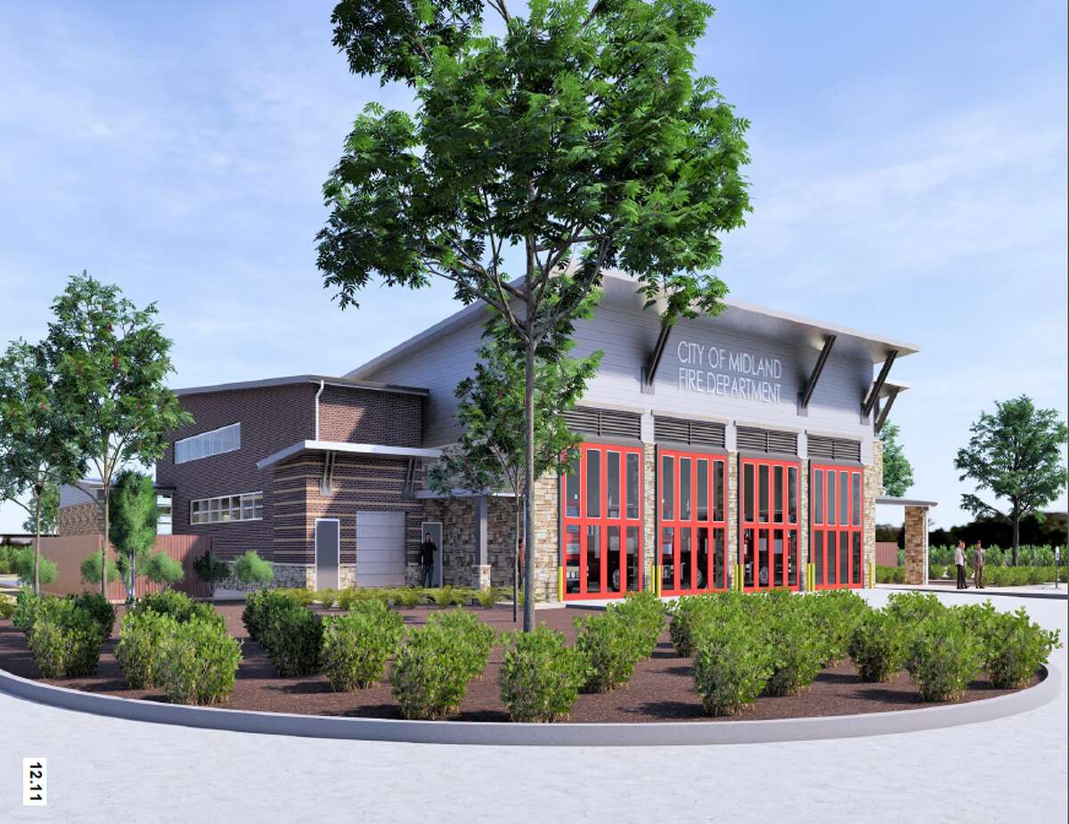 Renderings provided by the city of Midland of Firehouse 11.