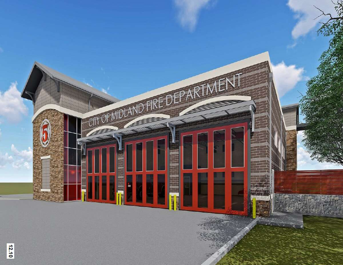 Renderings provided by the city of Midland of Firehouse 5.