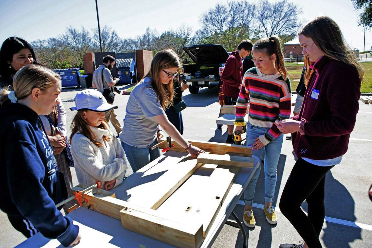 Volunteers gathered for community services projects as part of thethe Fort Bend Interfaith Community's second annual Youth Day of Service at the Ismaili Jamatkhana and Center in Sugar Land. on Monday, Jan, 21.