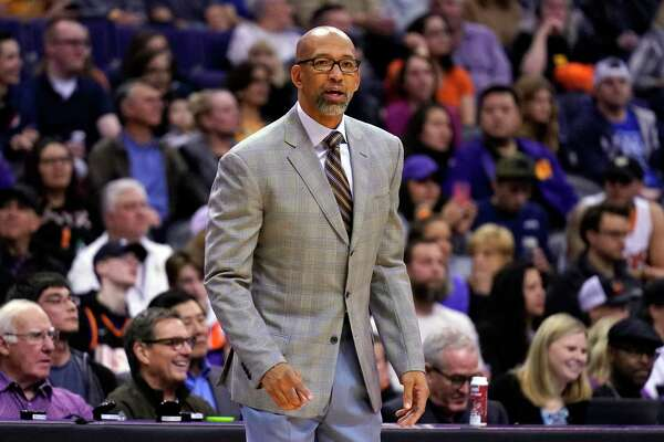 Phoenix Suns head coach Monty Williams during the first half of an NBA basketball game against the San Antonio Spurs Monday, Jan. 20, 2020, in Phoenix. (AP Photo/Rick Scuteri)