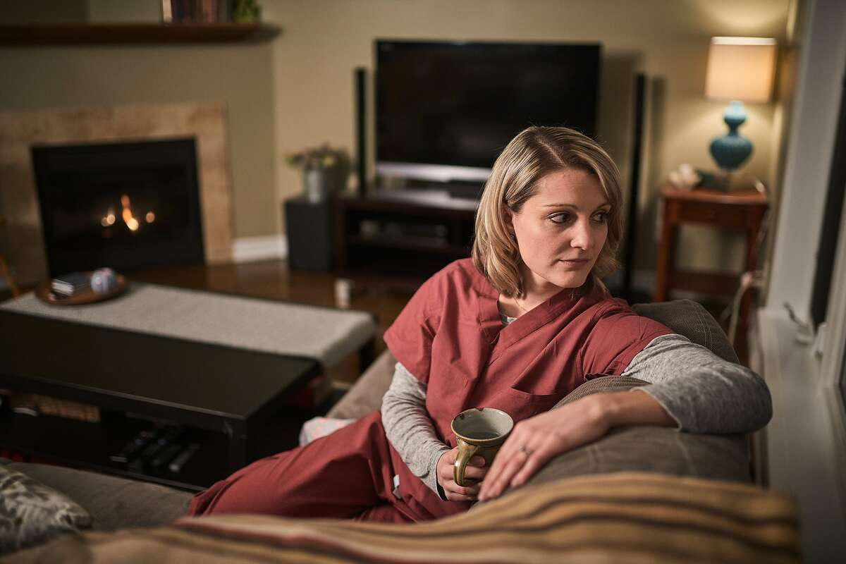 Corinna Heyn-Jones sits for a portrait in her home in Ottawa, ON, Canada on January 24, 2020. While working at the San Francisco General Hospital as an emergency room nurse, she was violently assaulted by a psychiatric patient.