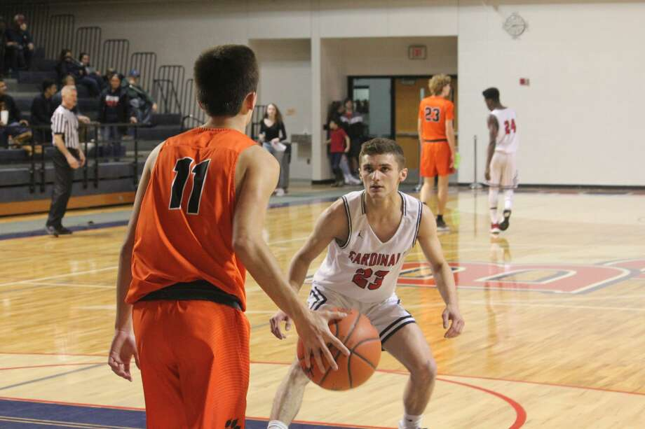 Grant was too much for Big Rapids on Friday in posting a 50-33 boys basketball victory. Photo: John Raffel