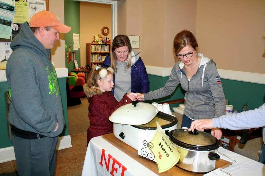 People enjoy homemade soup at Souper Saturday in 2019. (Rich Harp/File Photo)