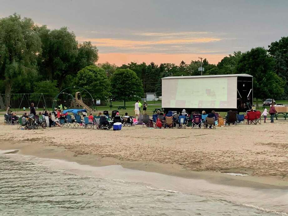 The Huron County Community Foundation Strategic Priorities awarded the Placemaking Grant money necessary to make movies on the beach possible in Harbor beach. (Courtesy/Mackenzie Price Sundblad)