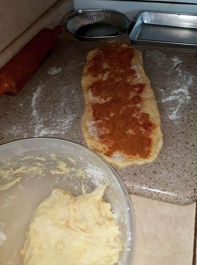 Making sweet rolls (Courtesy photo)