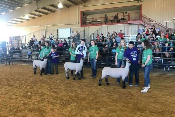 Huffman ISD special education life skills students showed their animals with the help of volunteers from Hargrave High School at the 2020 Huffman ISD Livestock Show Unified Show at the Huffman ISD Agriculture Barn on the afternoon of Jan. 24