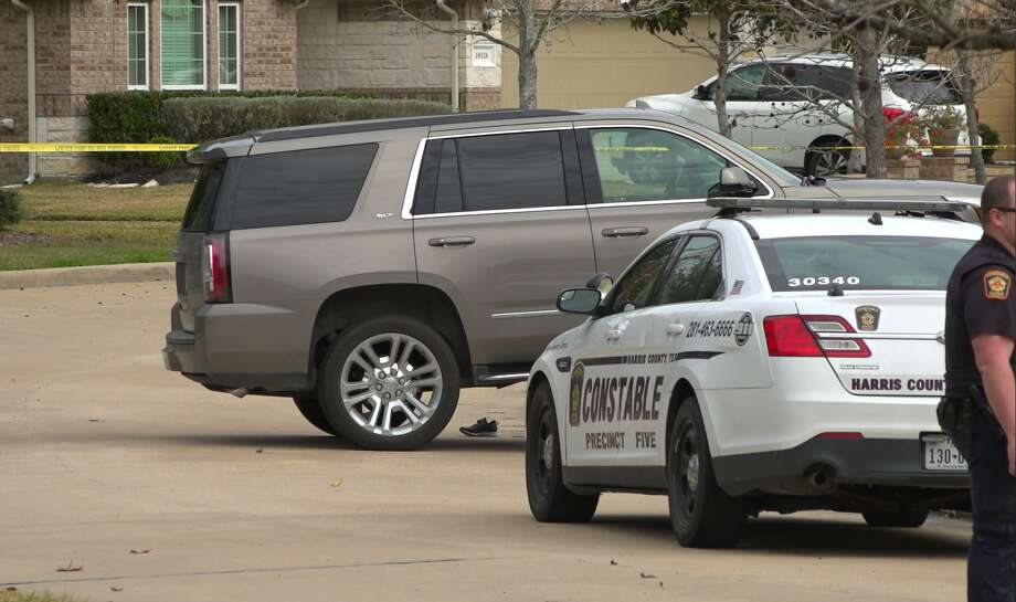 A 3-year-old Cypress girl was killed Saturday morning when an SUV left in neutral by her parent rolled back in the driveway. Photo: OnScene TV