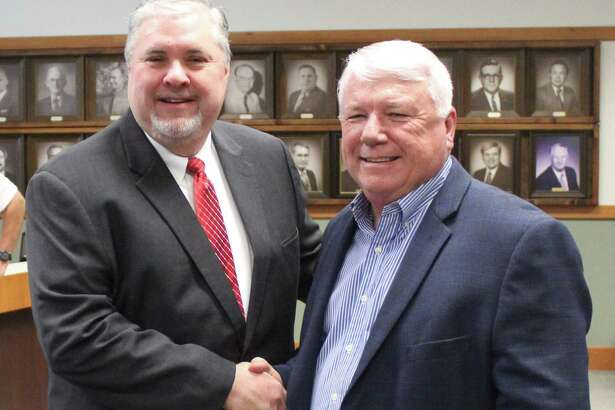 Cleveland ISD named Chris Trotter (left) the new superintendent and will take over for current superintendent Darrell Myers (right), who will retire at the end of the school year.