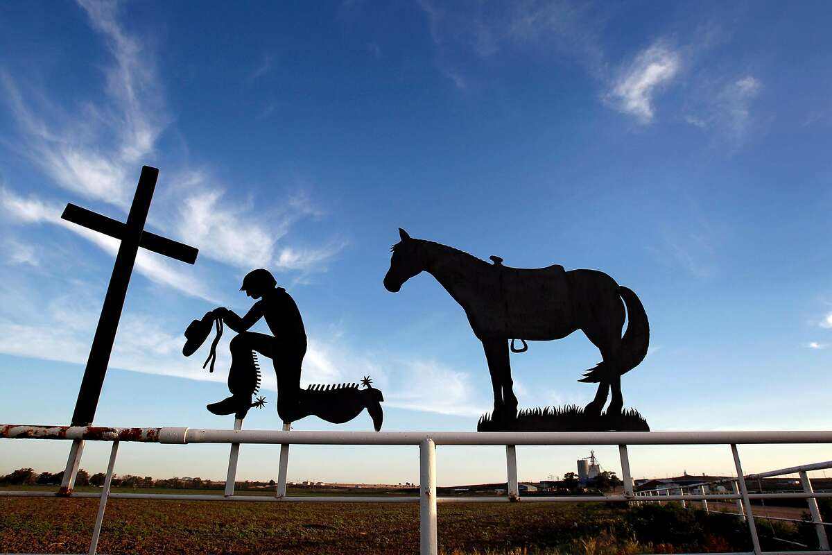 At the Winter Feed Yard in Dodge City, Kansas, a grateful former employee created a sculpture for owner Ken Winter. (Keith Myers/Kansas City Star/MCT)