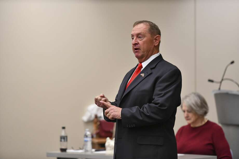 David Criner, who is running for Midland County Sheriff, speaks Saturday, Jan. 25, 2020 during a candidate forum at the Centennial Library. Jacy Lewis/Reporter-Telegram Photo: Jacy Lewis/Reporter-Telegram
