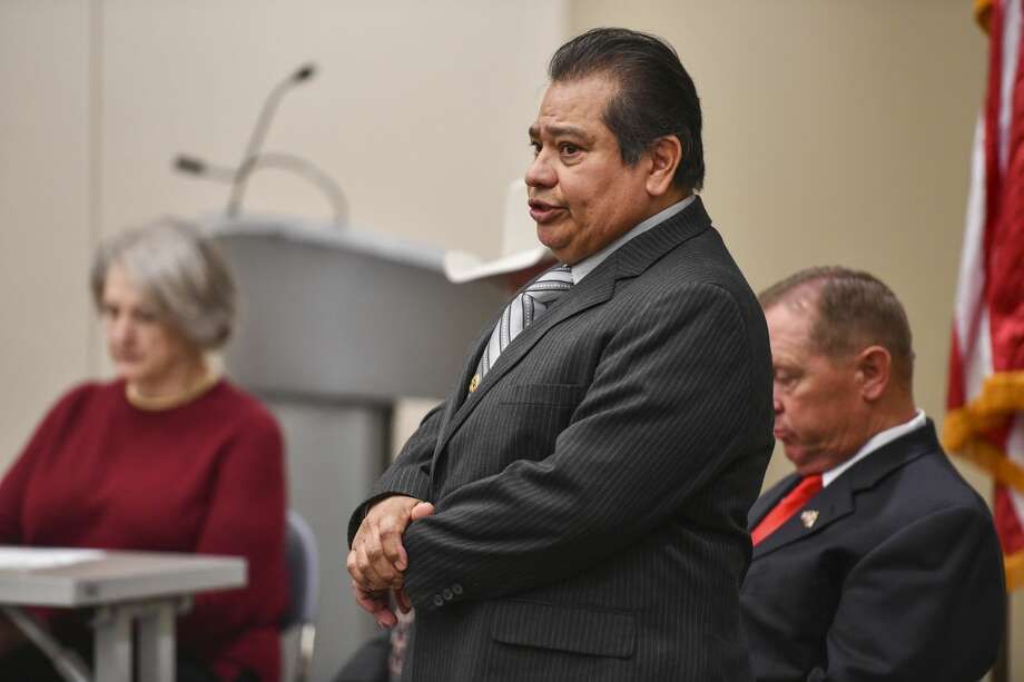 Joe Lozano, who is running for Midland County Sheriff, speaks Saturday, Jan. 25, 2020 during a candidate forum at the Centennial Library. Jacy Lewis/Reporter-Telegram Photo: Jacy Lewis/Reporter-Telegram