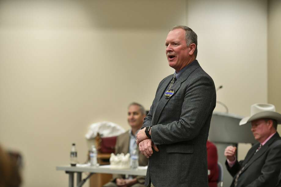 Rory McKinney, who is running for Midland County Sheriff, speaks Saturday, Jan. 25, 2020 during a candidate forum at the Centennial Library. Jacy Lewis/Reporter-Telegram Photo: Jacy Lewis/Reporter-Telegram