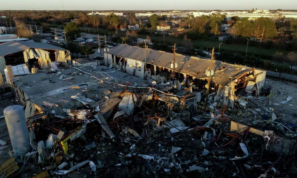 An explosion at Watson Grinding and Manufacturing rocked northwest Houston early on Jan. 24, 2020. Three people died and hundreds of homes were damaged in the blast.