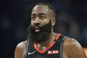 Houston Rockets guard James Harden plays in the first half of an NBA basketball game against the Memphis Grizzlies Tuesday, Jan. 14, 2020, in Memphis, Tenn. (AP Photo/Brandon Dill)