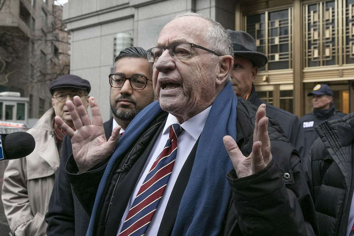 FILE - In this Dec. 2, 2019, file photo, attorney Alan Dershowitz talks to the press outside federal court, in New York. Retired law professor Alan Dershowitz says he hasn't changed at all and has a long history of representing people whose views he doesn't necessarily agree with. Dershowitz is part of President Donald Trump's defense team at the Senate impeachment trial. (AP Photo/Richard Drew, File)