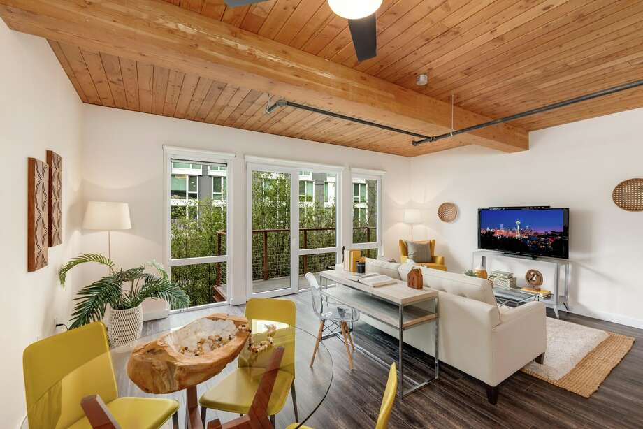 In a perfect South Lake Union location, this loft-like condo offers unique charm, and asks $480K Photo: Spencer Redford/Rendering Space