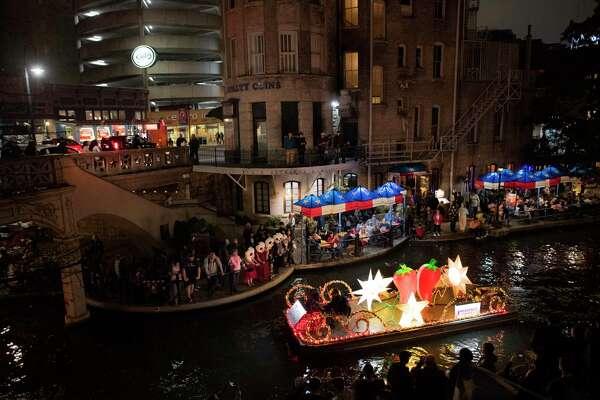 San Antonio Riverwalk Halloween 2020 Chinese New Year Parade lights up San Antonio River Walk