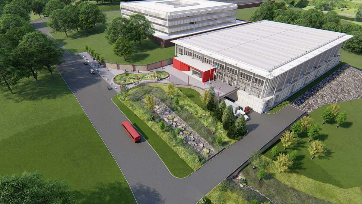Sacred Heart University hockey rink rendering