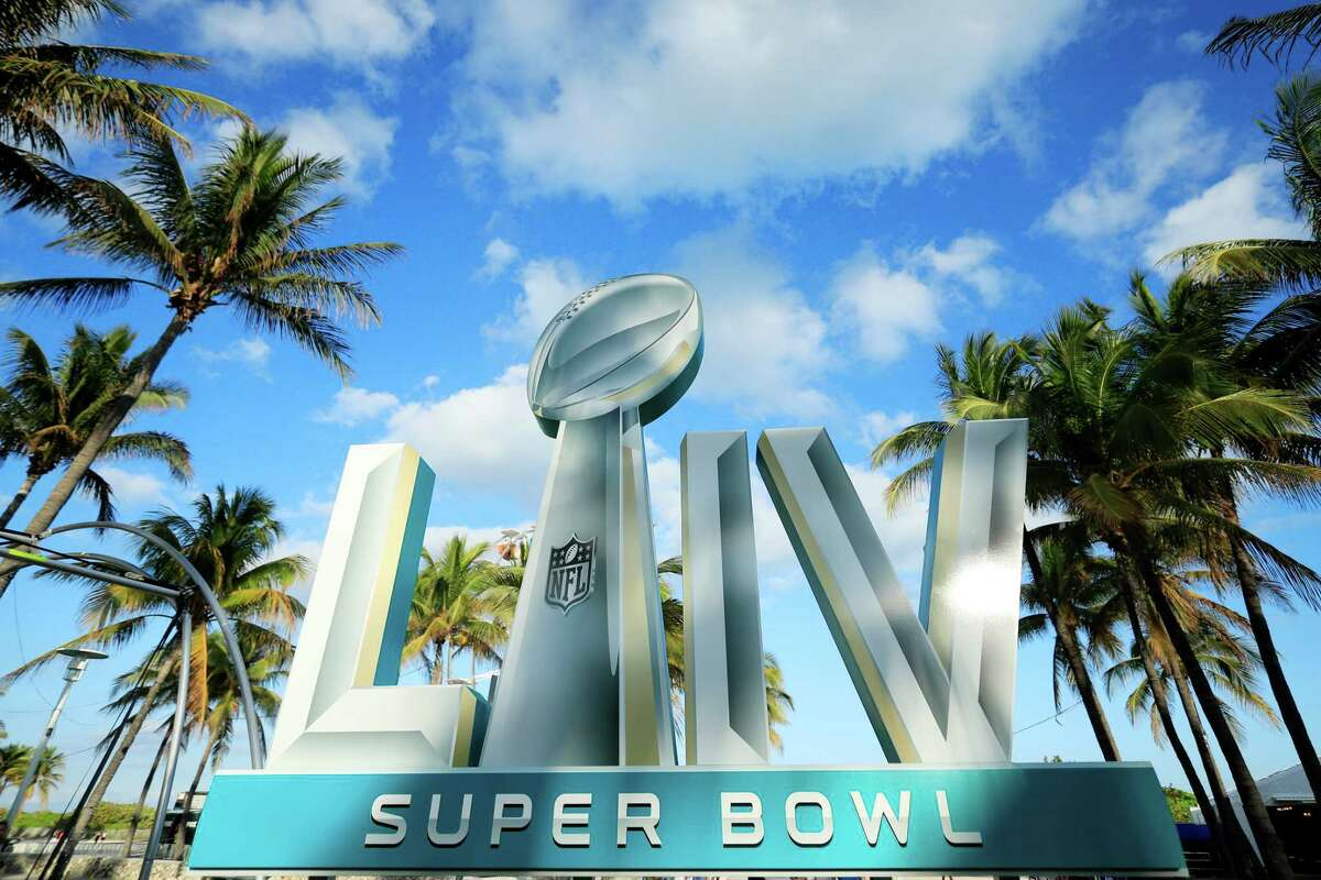 MIAMI BEACH, FLORIDA - JANUARY 25: Signage is displayed near the FOX Sports South Beach studio compound prior to Super Bowl LIV on January 25, 2020 in Miami Beach, Florida. The San Francisco 49ers will face the Kansas City Chiefs in the 54th playing of the Super Bowl, Sunday February 2nd. (Photo by Cliff Hawkins/Getty Images)