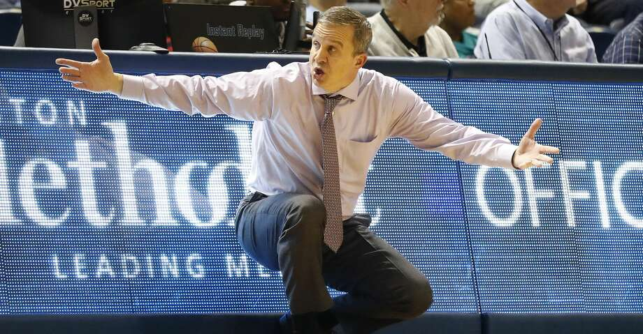 Rice Owls head coach Scott Pera reacts during the second half of an NCAA men's college basketball game at Tudor Fieldhouse Thursday, Jan. 9, 2020, in Houston. Rice lost to Florida Atlantic Owls 81-76. Photo: Karen Warren/Staff Photographer