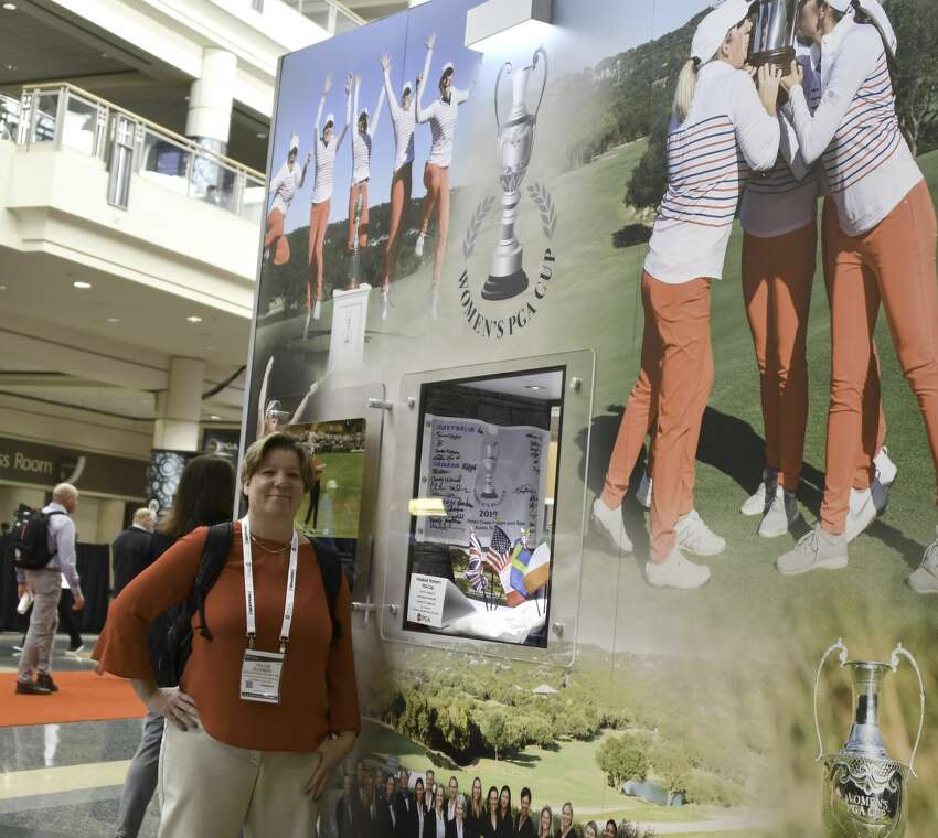 Tracie Warner, executive director of the Northeastern New York chapter of the PGA, at the PGA Merchandise Show on Wednesday Jan. 22, 2020. (Joyce Bassett / Special to the Times Union)