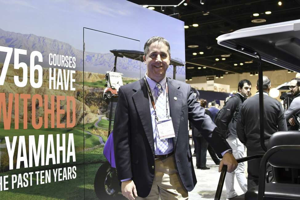 PGA teaching professional Mike Behan, president of the NENY PGA Board of Directors and a sales manager for Yamaha, a maker of golf carts, at the PGA Merchandise Show on Jan. 22, 2020. He also is the assistant coach of the Siena women's golf team. (Joyce Bassett / Special to the Times Union)