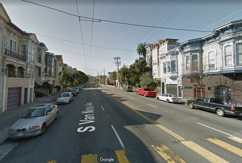 The 800 block of South Van Ness in San Francisco, where Lisa Williams was shot and killed in 2016. Photo: Google Street View
