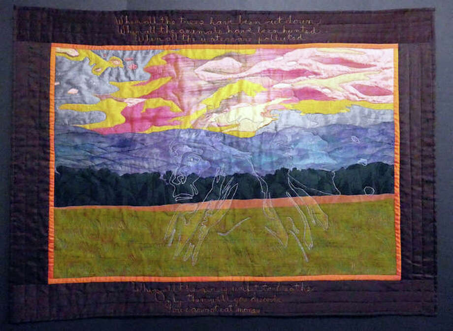"""The pair will showcase their quilt (pictured), """"You Cannot Eat Money."""" Photo: Submitted"""