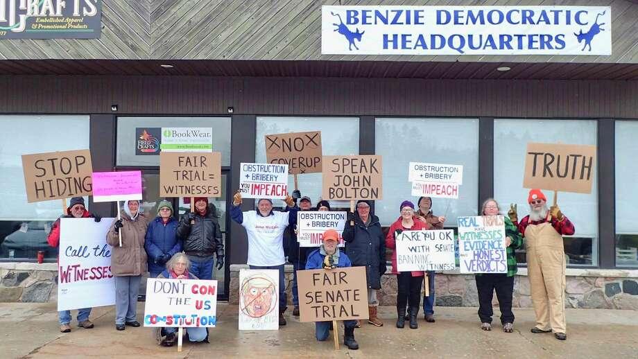 Citizens rally for a fair impeachment trial.(Courtesy Photo)