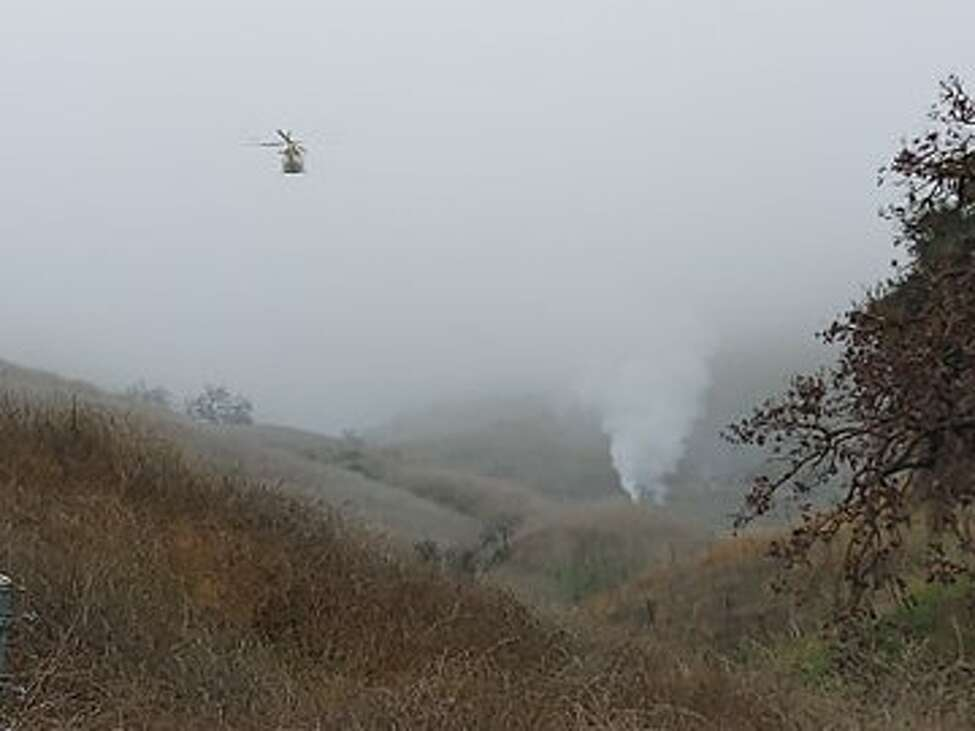 A helicopter crashed in Calabasas, Calif. on Jan. 26, 2020.