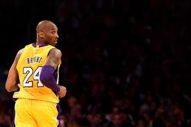 FILE - JANUARY 26, 2020: It's been reported that legendary basketball player Kobe Bryant has been killed in a helicopter crash in Calabasas, California. LOS ANGELES, CA - APRIL 13:  Kobe Bryant #24 of the Los Angeles Lakers looks back in the first half while taking on the Utah Jazz at Staples Center on April 13, 2016 in Los Angeles, California. NOTE TO USER: User expressly acknowledges and agrees that, by downloading and or using this photograph, User is consenting to the terms and conditions of the Getty Images License Agreement.  (Photo by Harry How/Getty Images)