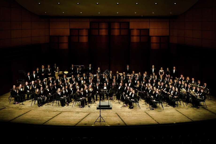 The Meridian Public School's symphonic band, which is made of 125 students in grades 9-12, had the opportunity to perform at the DeVos Place in Grand Rapids as part of the 15th annual Michigan Music Conference. (Photo provided byAmy Grubaugh)