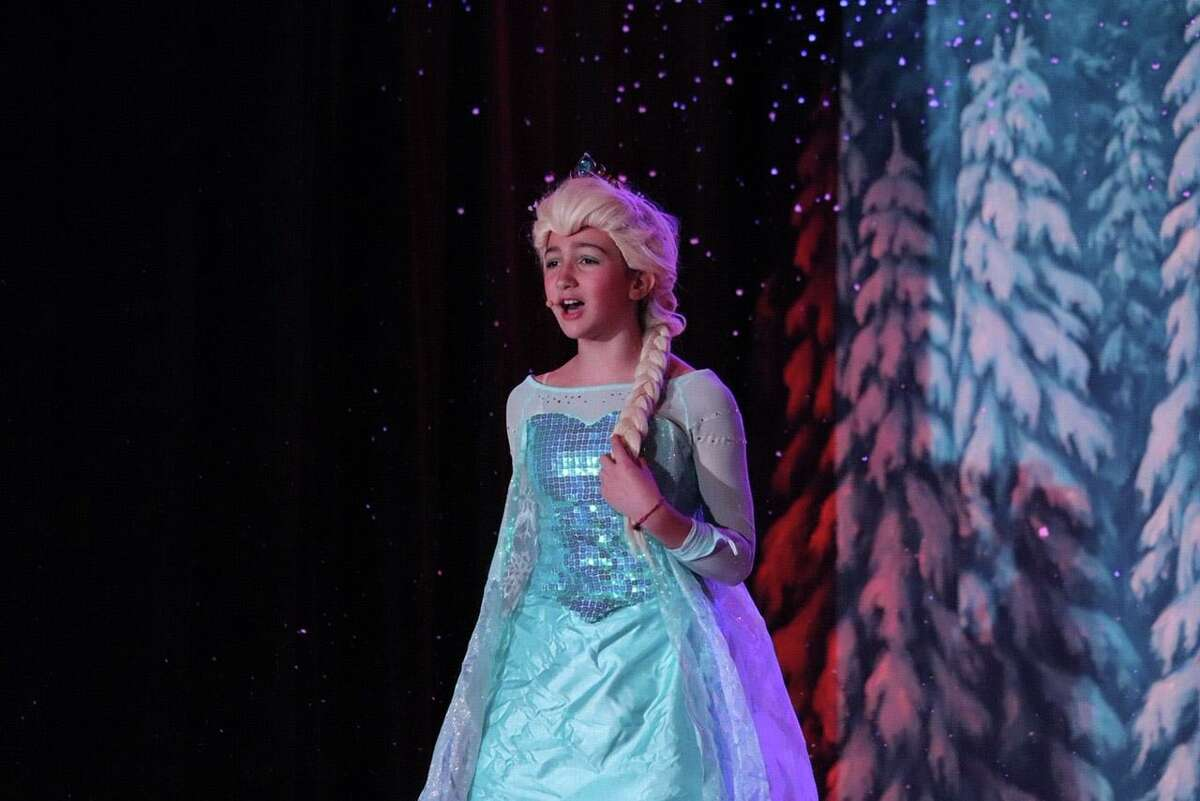 """Riverside School student Elsa Fernandez played, appropriately, the part of Elsa in the school's production of """"Frozen"""" the musical."""