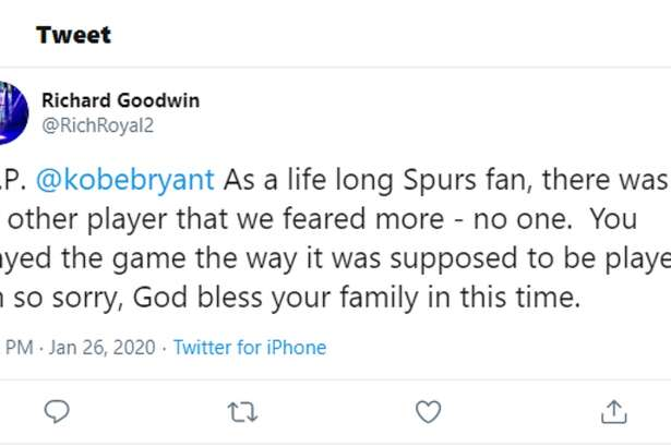 Reactions to the death of Kobe Bryant flooded Twitter after news that the NBA legend was killed in a helicopter crash Sunday.
