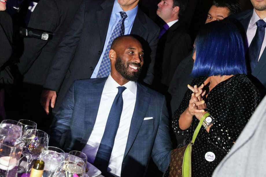 PHOTOS: Twitter reactions from professional athletes FILE -- Kobe Bryant attends the National Retail Federation Foundation Gala at Pier 60 in New York, Jan. 15, 2017. Bryant, 41, the retired Los Angeles Lakers star, died Sunday, Jan. 26, 2020, in a helicopter crash in Calabasas, Calif. (Rebecca Smeyne/The New York Times) Browse through the photos above for some athletes' reaction on Twitter to Kobe Bryant's death ... Photo: REBECCA SMEYNE, NYT / NYTNS