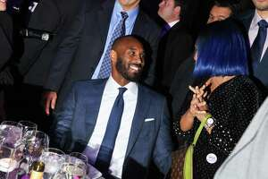 FILE -- Kobe Bryant attends the National Retail Federation Foundation Gala at Pier 60 in New York, Jan. 15, 2017. Bryant, 41, the retired Los Angeles Lakers star, died Sunday, Jan. 26, 2020, in a helicopter crash in Calabasas, Calif. (Rebecca Smeyne/The New York Times)