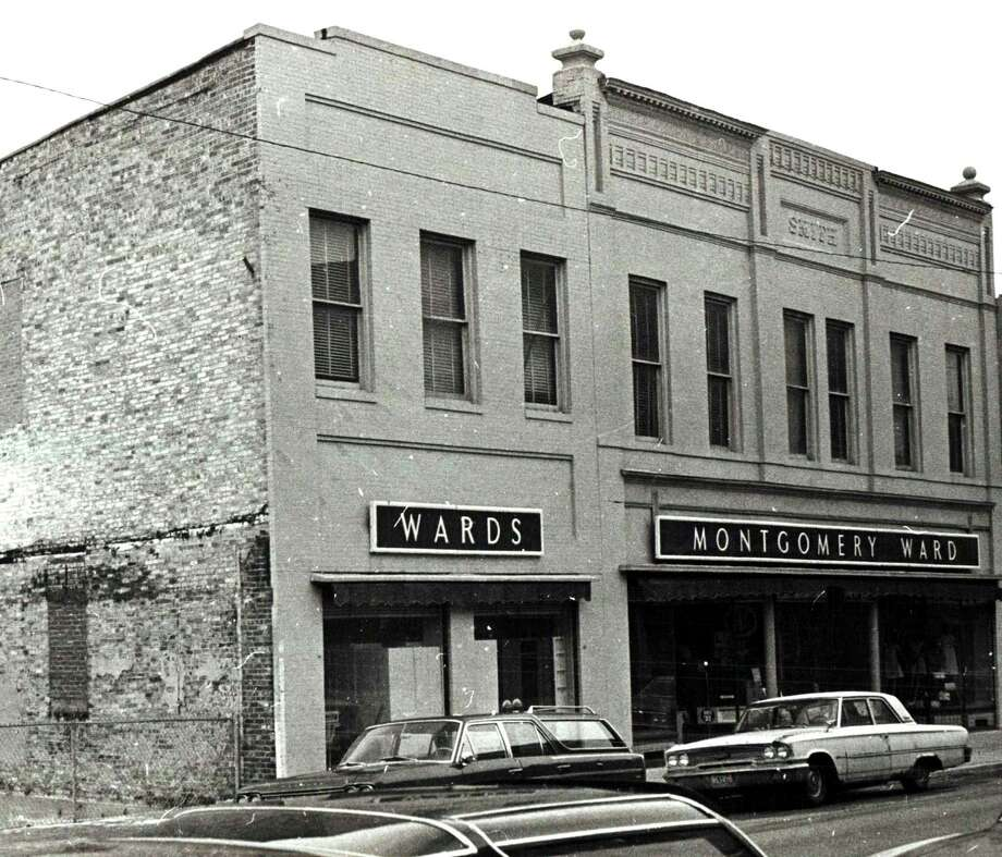 The Montgomery Ward store was one of many brand name businesses to have stores located in Manistee. The store is shown in this photograph from the 1960s.