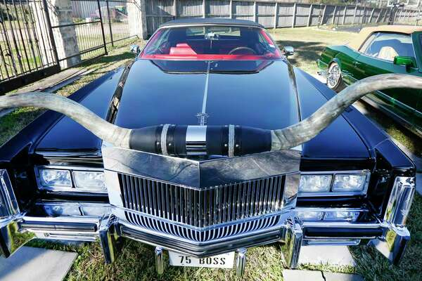 Rapper Slim Thug has a rare car collection like this 1975 Cadillac Eldorado Friday, Jan. 24, 2020, in Pearland.