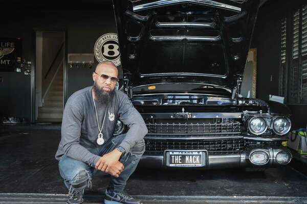 "Rapper Slim Thug has a rare car collection, his favorite car is the called ""The Mack"" a 1959 Cadillac coupe Friday, Jan. 24, 2020, in Pearland."