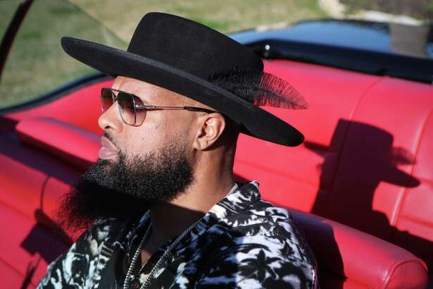 Rapper Slim Thug drives his 1959 Cadillac coupe Friday, Jan. 24, 2020, in Pearland.