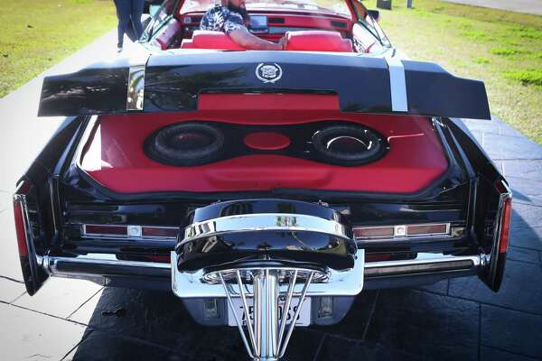 "Rapper Slim Thug has a rare car collection, his favorite car is the called ""The Mack"" a 1959 Cadillac coupe that features a incredible sound system Friday, Jan. 24, 2020, in Pearland."