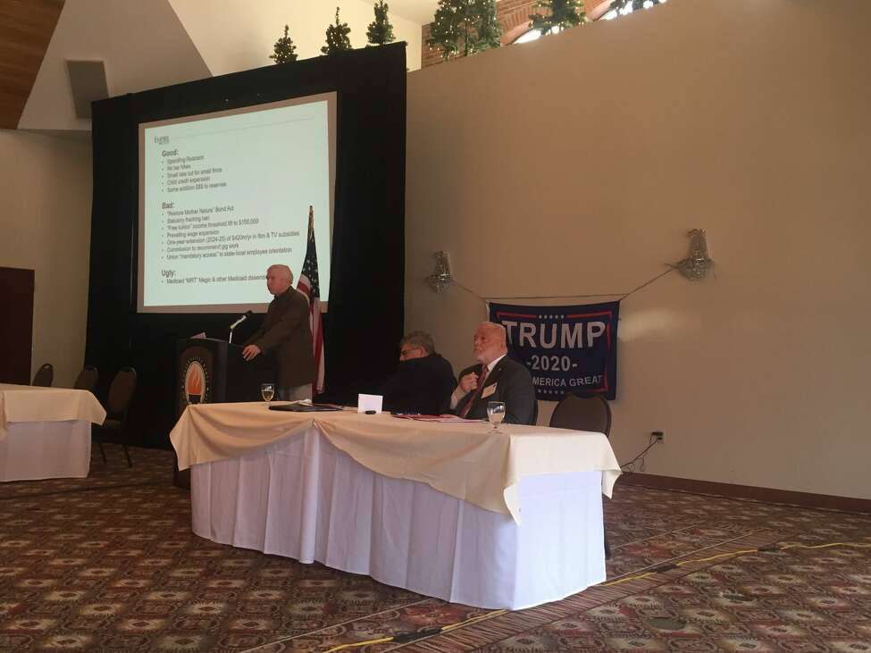 E. J. McMahon, the research director of the Empire Center for Public Policy, gave his perspective on Gov. Andrew Cuomo's proposed budget at the annual state Conservative Party conference in Latham.